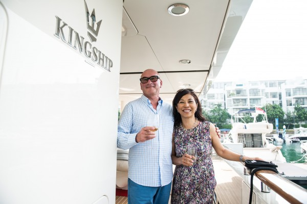 Images from UBS Singapore's event on board a Kingship super Yacht. Photos taken on 16 April 2013.